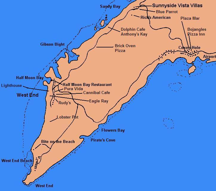 Island Of Roatan Honduras Map